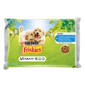 Friskies Dog Junior Multipack, 4 x 100 g
