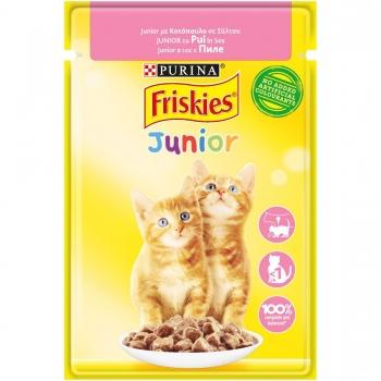Friskies Cat Plic Junior Pui in Sos 85 g