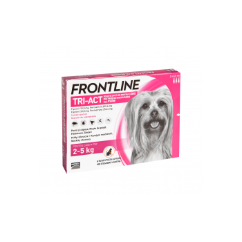 Frontline Tri-Act Spot-On, XS 2-5 kg, 3 pipete
