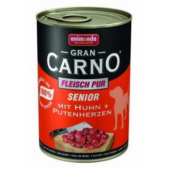 Grancarno Senior Pui si Inima Curcan, 400 grame