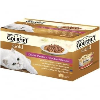 Gourmet Gold Duo Multipack Vita si Pui, 4x85 g