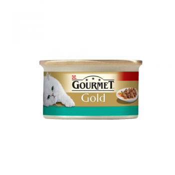Gourmet Gold Cuburi Pui si Somon in Sos 85 g