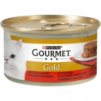 GourmetGold SavouryCakecu Vita si Rosii, 85 g