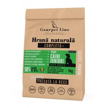 GOURPET LINE Junior, Miel, pachet economic hrană uscată presată la rece fără cereale câini junior, 5kg x 2