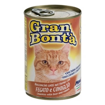 Conserva Gran Bonta pentru Pisici cu Ficat si Iepure 400 g