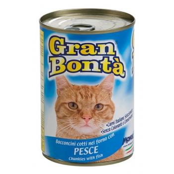 Conserva pentru pisici Gran Bonta cu Peste 400g