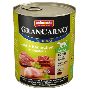 Grancarno Adult Iepure si Verdeata 800 g