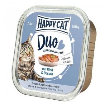 Happy Cat Duo Menu, cu Vita si Cod, 100 g