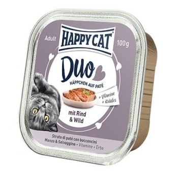 Happy Cat Duo Menu, cu Vita si Vanat, 100 g