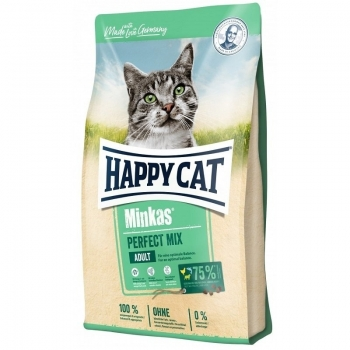 Happy Cat Minkas Adult, cu Mix de Carne, 10 kg