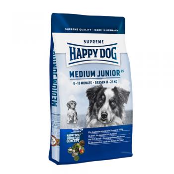 Happy Dog Medium Junior 25  4 kg