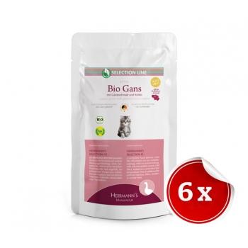 Hrana Umeda Bio Herrmann's Kitten cu Carne de Carne Organica de Gasca, 6*200g