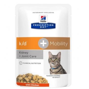 Hill's PD Feline k/d Afectiuni Renale + Mobility, 85 g imagine