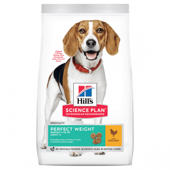 Hill's SP Canine Adult Perfect Weight Medium Pui, 12 Kg