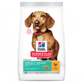 Hill's Sp Canine Adult Perfect Weight Small & Miniature Pui, 1.5 Kg imagine
