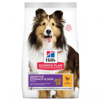 Pachet 2 x Hill's SP Canine Adult Sensitive Skin & Stomach Pui, 14 Kg imagine
