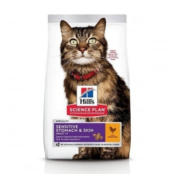 Hill's SP Feline Adult Skin&Stomach Pui, 7 Kg imagine