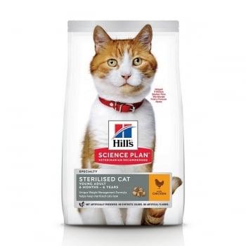 Hill's SP Feline Young Adult Sterilised Pui, 15 Kg imagine