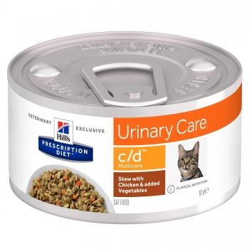 Hill's PD Feline C/D Chicken & Veggie Stew, 82 g