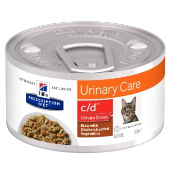 Hill's PD Feline C/D Stress Chicken&Veggie Stew, 82 g