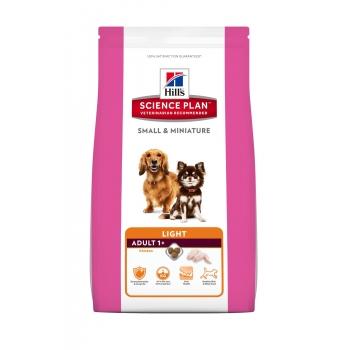 HILL'S SP Canine Adult Light Small & Miniature cu Pui si Curcan 300 g