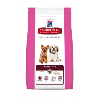 HILL'S SP Canine Adult Small& Miniature cu Pui si Curcan 300 g