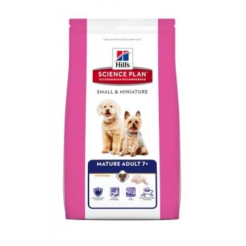 HILL'S SP Canine Mature Adult +7 Small & Miniature cu Pui si Curcan 1,5 kg