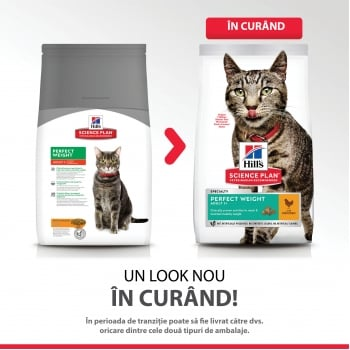 Hill's SP Feline Adult Perfect Weight cu Pui, 1.5 Kg