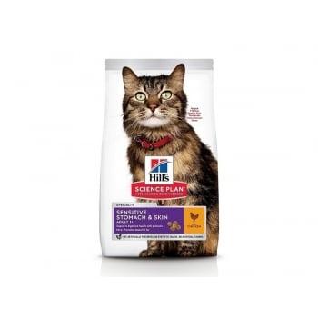 Hill's SP Feline Adult Sensitive Stomach & Skin, 1.5 kg