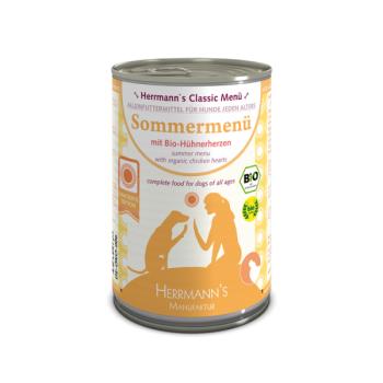Herrmann's Bio Classic Line Summer Menu, cu Inimi de Pui si Cartofi, 400 g