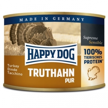 Happy Dog Conserva cu Curcan, 200 g