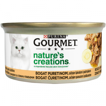 Gourmet Nature's Creations File Curcan si Spanac, 85 g imagine