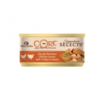 Hrana Umeda Wellness Core Signature Select cu Pui si Curcan in Sos, 79 g