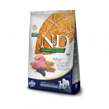 Pachet 2 x N&D Ancestral Grain Dog Adult Med&Maxi cu Pui si Rodie, 12 kg