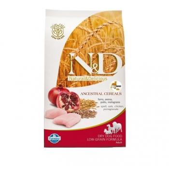 N&D Low Grain Medium Adult Pui si Rodie, 2.5 kg