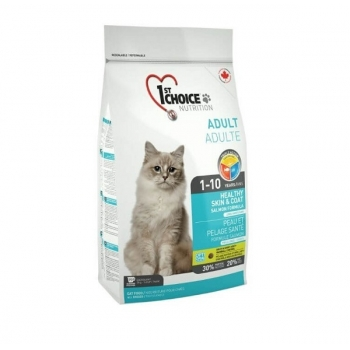 1st Choice Cat Adult Skin And Coat, 5.44 Kg imagine