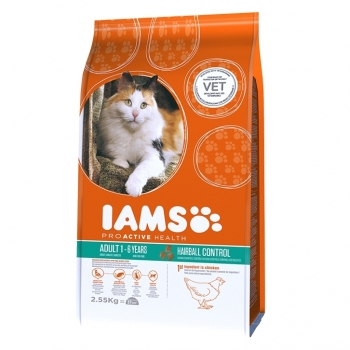 Iams Adult Cat Hairball Control, 300 g