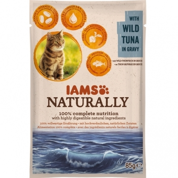 Iams Naturally Adult Cat Ton, plic 85 g