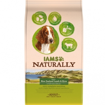 Iams Naturally Adult Dog Miel si Orez, 800 g