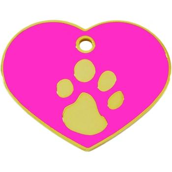 Medalion Tag Fashion Inima Labute S Gold / Pink