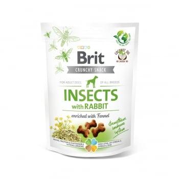 BRIT Care Crunchy Cracker, Insecte și Iepure cu Chimen, recompense fără cereale câini, 200g