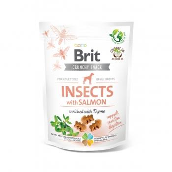 BRIT Care Crunchy Cracker, Insecte și Somon cu Cimbru, recompense fără cereale câini, 200g