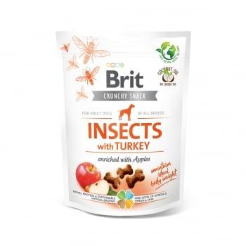 BRIT Care Crunchy Cracker, Insecte și Curcan cu Mere, recompense fără cereale câini, 200g