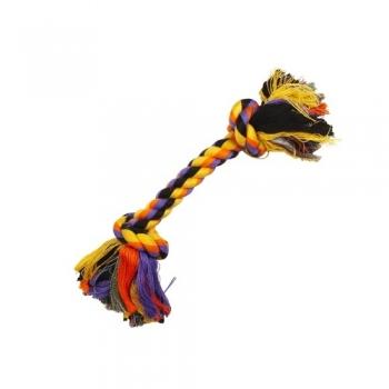 Jucarie Sfoara cu 2 Noduri Trixie Mare 26 cm
