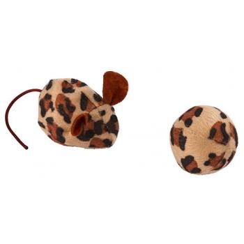 Jucarie Kerbl 2 in1, Minge si Soricel, cu Iarba Pisicii, 5 cm