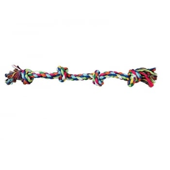 Jucarie Caine Sfoara Trixie 2 Noduri, 54 cm