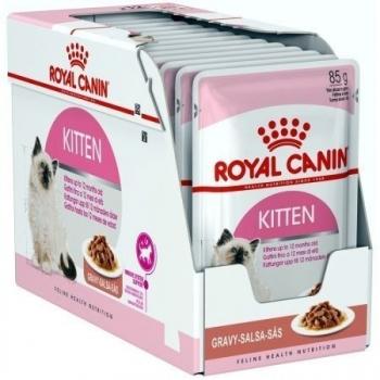 Royal Canin Kitten, bax hrană umedă pisici, (în sos), 85g x 24