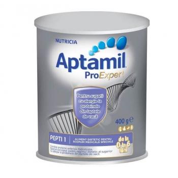 Lapte Praf Aptamil Pepti 1 cu Formula Speciala de la Nastere, 400 g