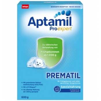 Lapte Praf Aptamil Prematil Formula Speciala Prematuri de la Nastere, 600 g