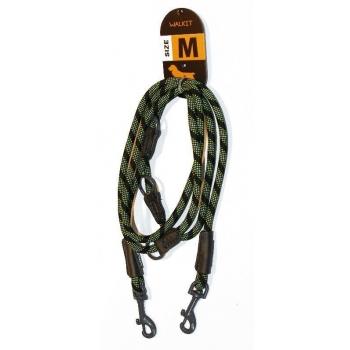 Lesa Caine Walkit Round Rope, M, 0.8 x 200 cm, Negru/Verde imagine